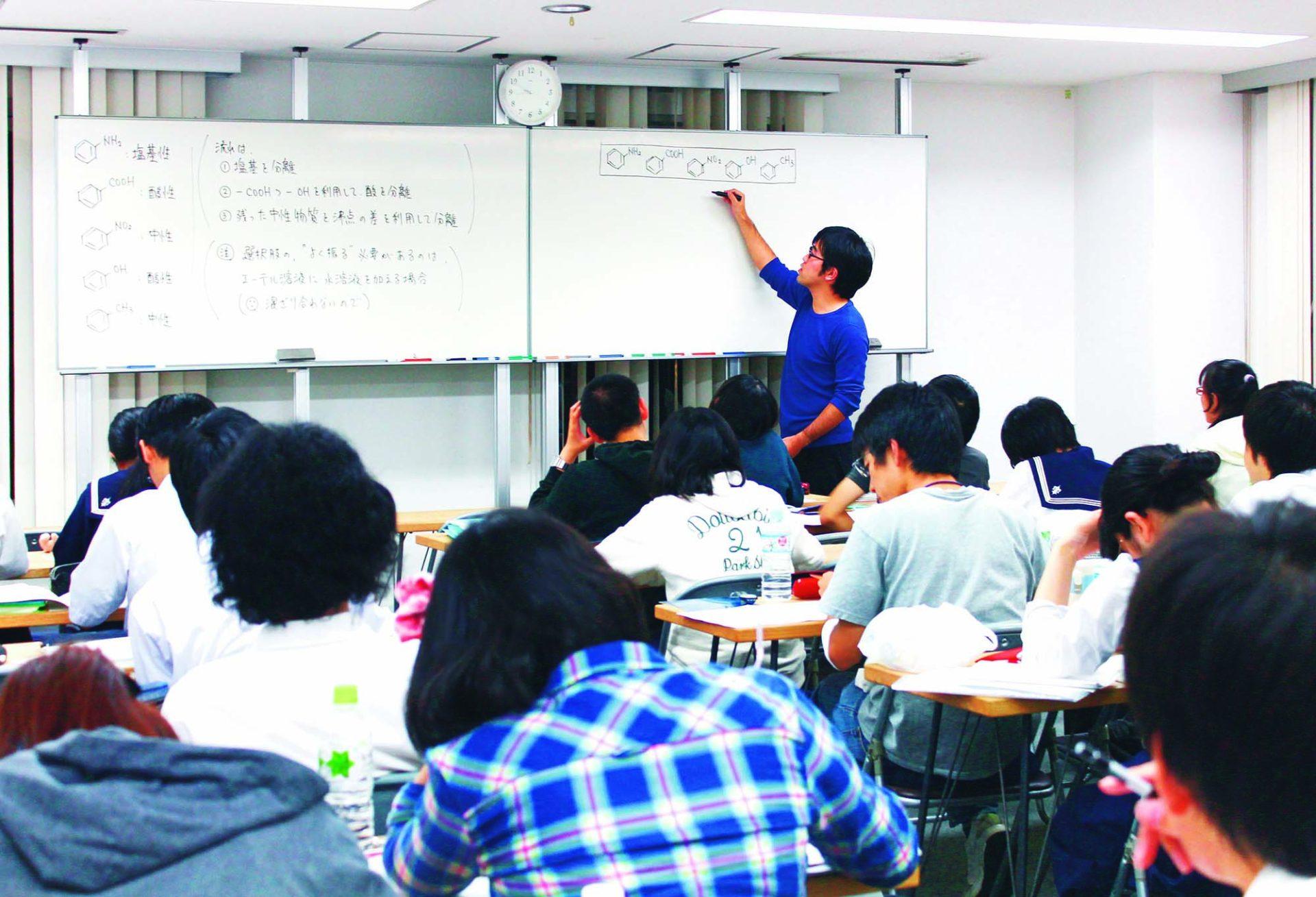 化学1組の授業風景